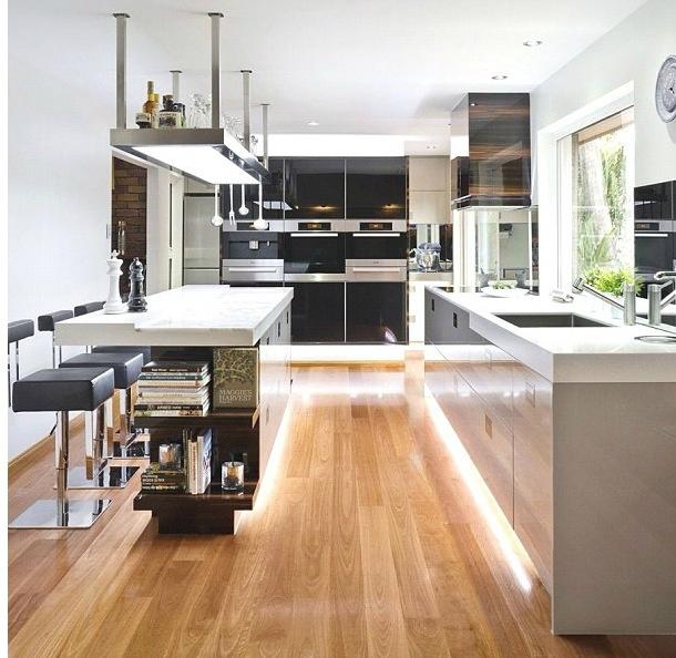 modern gray black kitchen design