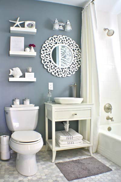 40 stylish small bathroom design ideas decoholic for Bathroom color theme ideas
