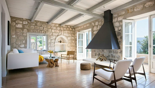 New contemporary rustic interior in croatia decoholic for Modern rustic house designs