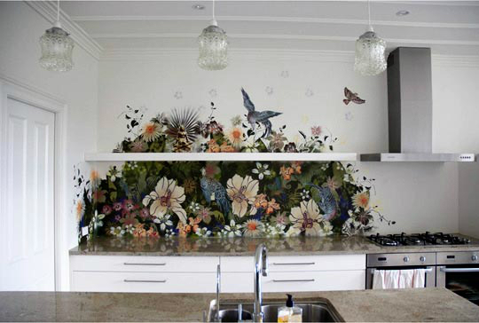 painting Kitchen Backsplash Idea