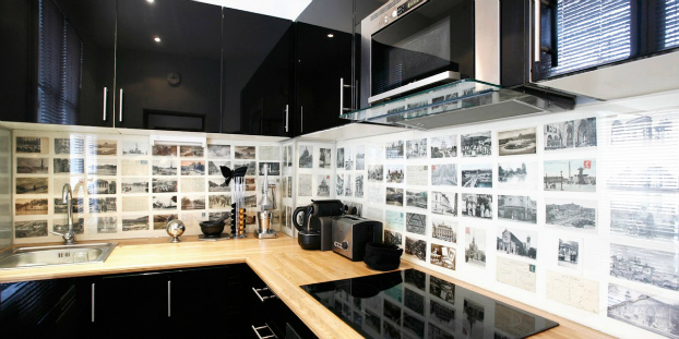 photo print Kitchen Backsplash Idea