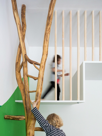 playroom installed with trees 4