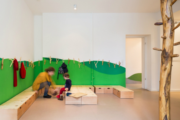 playroom installed with trees 5