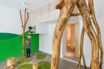 playroom installed with trees