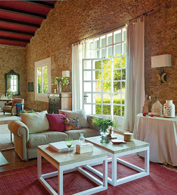 romantic warm farmhouse interior 3