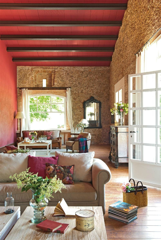 romantic warm farmhouse interior 4
