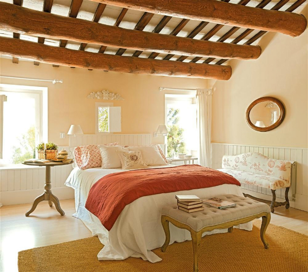 romantic warm farmhouse interior 9