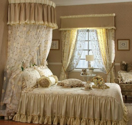 30 shabby chic bedroom decorating ideas decoholic - Cortinas vintage dormitorio ...
