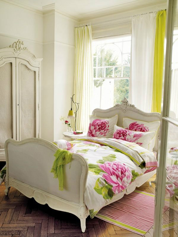 inspiring country chic bedroom decorating ideas | 30 Shabby Chic Bedroom Decorating Ideas - Decoholic