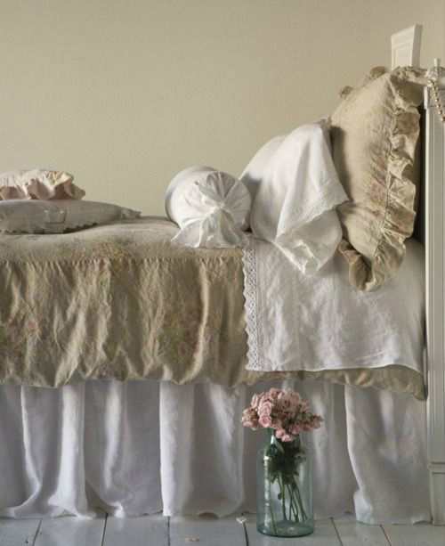 beige and white bed sheets