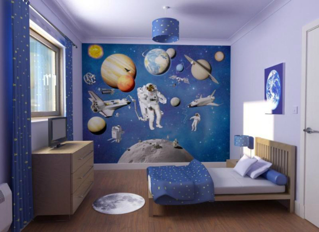 space themed boys room decorating ideas