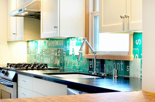 street signs Kitchen Backsplash Idea