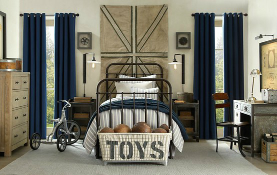 vintage boys room decorating ideas
