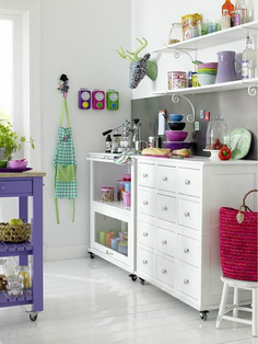 white purple kitchen design