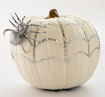 Glittery Pumpkin decorating idea
