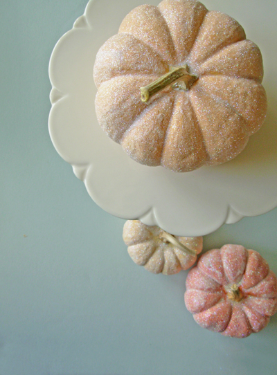 sugarcoated glittered pumpkin