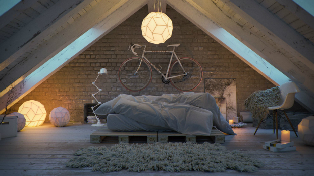 Awesome Atmospheric White Attic Loft 4