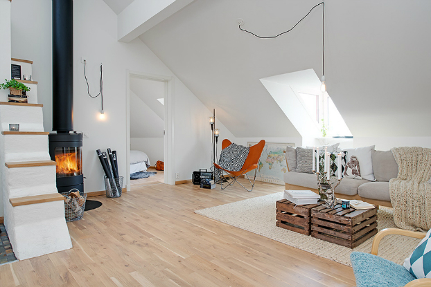 bright scandinavian attic3