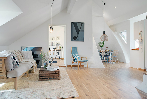 bright scandinavian attic 5