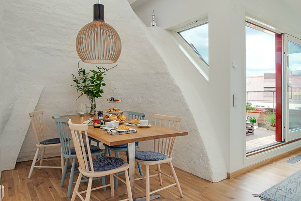 bright scandinavian attic 7