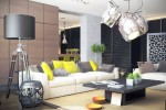 contemporary living room by sokruta