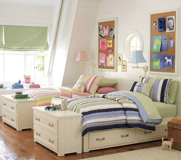Shared Boys Bedroom Storage: 26 Best Girl And Boy Shared Bedroom Design Ideas