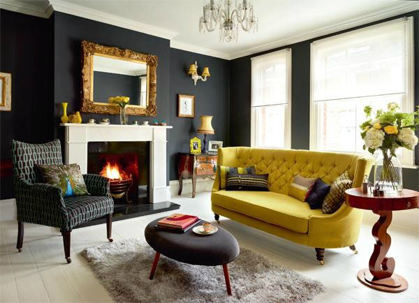 dark living rooms living room with dramatic walls 30 ideas decoholic 11071