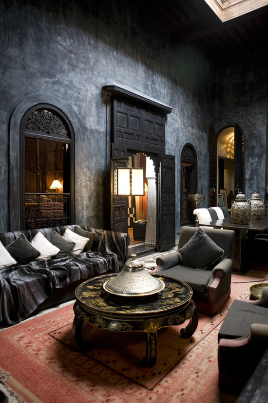 Living room with dark dramatic walls 30 ideas decoholic Room with black walls