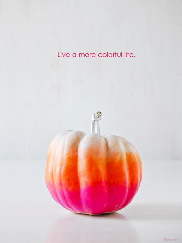 Funcy ombre pumpkin decorating idea