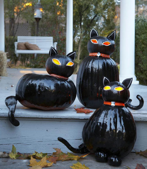 halloween Scaredy Cats pumpkins decorating ideas