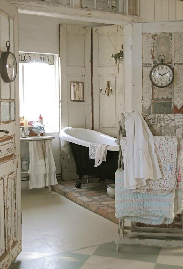 unique shabby chic bathroom design