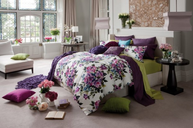 English garden inspired bedroom 17