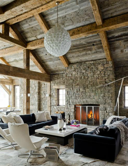 Stunning weather withstanding barns inspired chalet decoholic - Deco style chalet moderne ...
