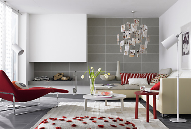 bold-gray-red-color-living-room-decorating-idea