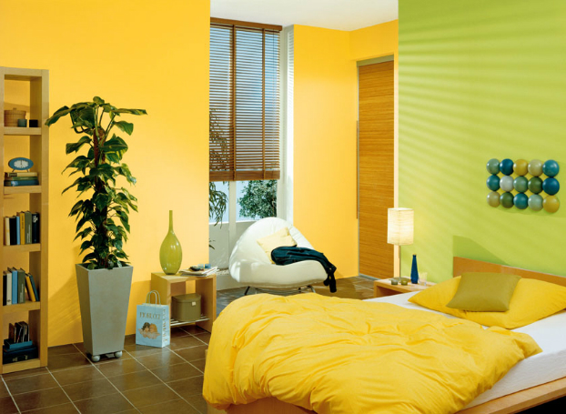 bold-yellow-green-color-decor