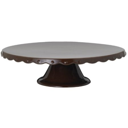 ceramic chocolate color cake stand