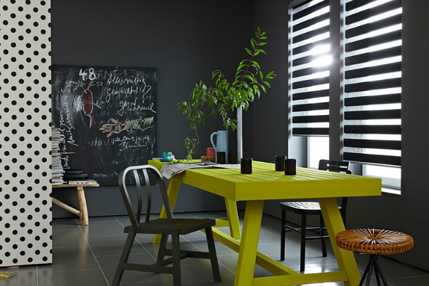 deep-dark-gray-wall-with-bright-yellow-decor