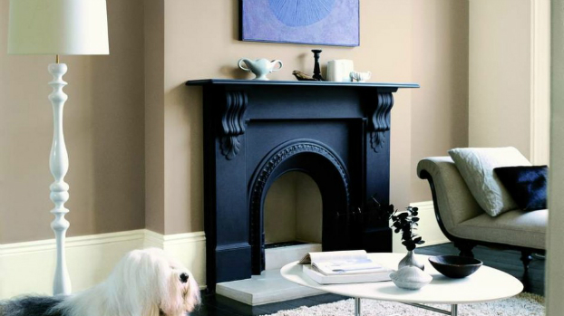 fireplace color ideas turn a dark dreary fireplace into a bright modern fireplace with paint. Black Bedroom Furniture Sets. Home Design Ideas