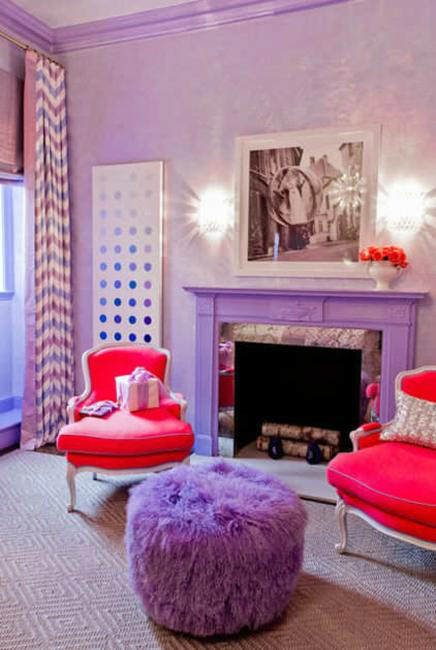 purple Fireplace Color Ideas