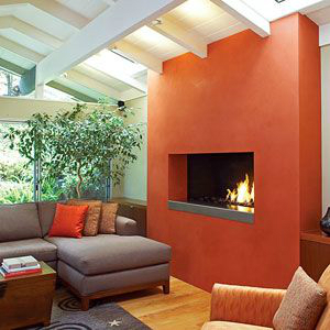 orange Fireplace Color Ideas