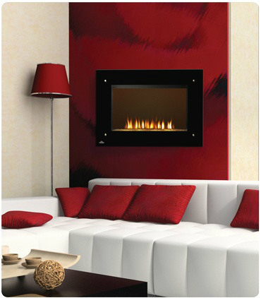 red Fireplace Color Ideas