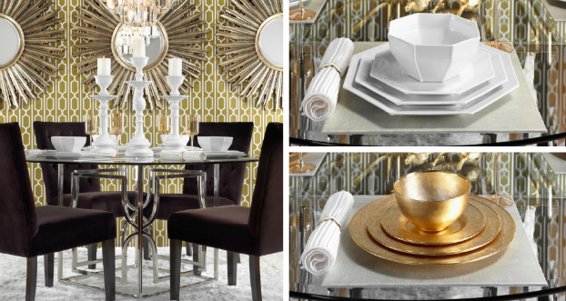 golden luxsubtle shades  dining room idea