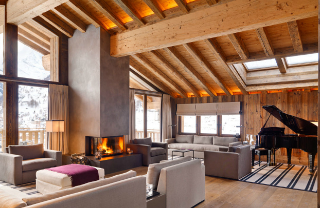 Spacious chalet with warm and cosy ambience decoholic - Chalet modern design ...