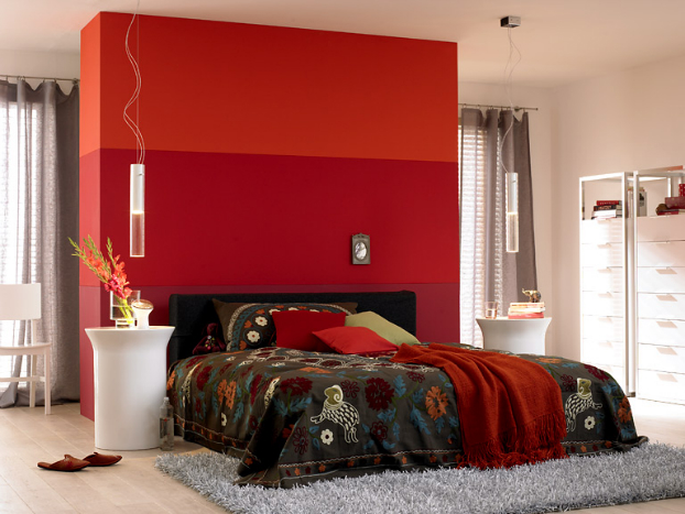 orange paint colors for bedrooms 10 reasons to decorate your home with bold colors 24 pics 19354