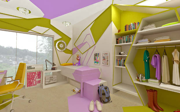 Innovative Cubist Room For Teenage Girl 2