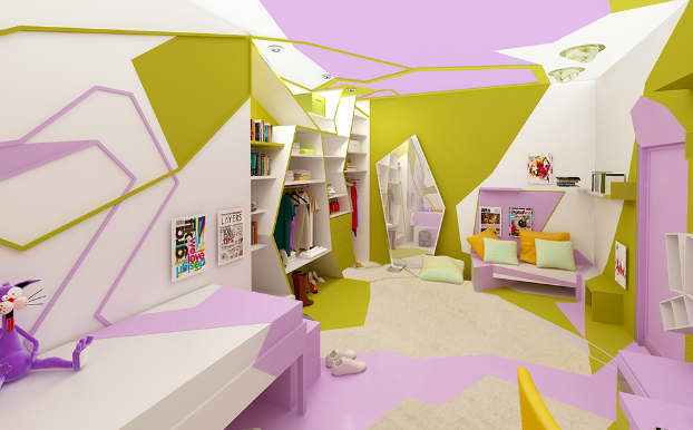 Innovative Cubist Room For Teenage Girl 3