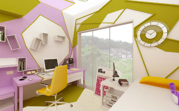 Innovative Cubist Room For Teenage Girl 4