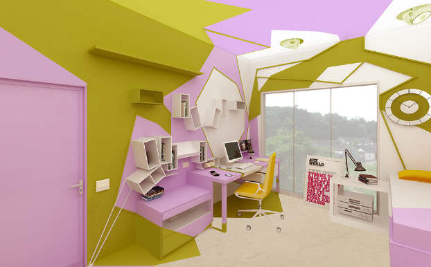 Innovative Cubist Room For Teenage Girl 5