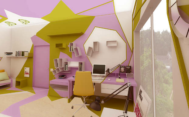 Innovative Cubist Room For Teenage Girl 6