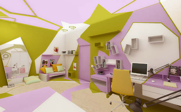 Innovative Cubist Room For Teenage Girl 7